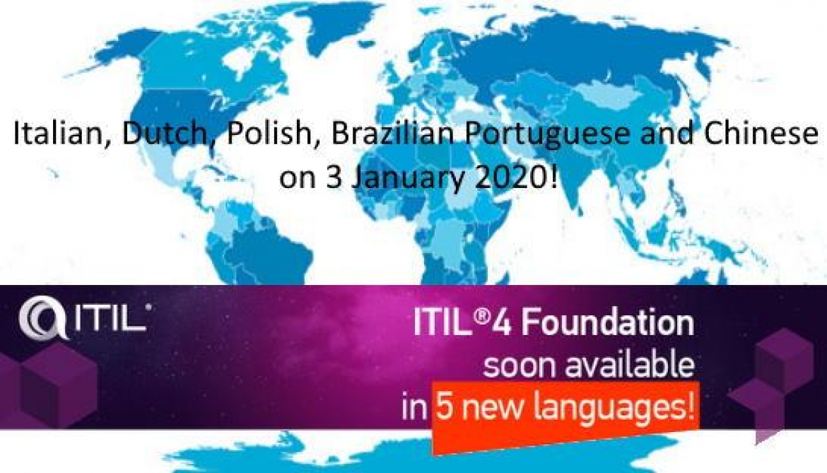 ITIL 4 Foundation soon available in 5 new languages!